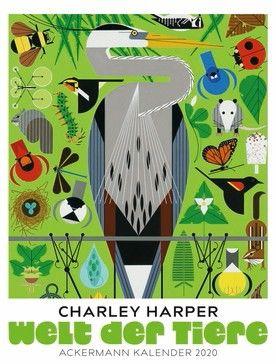 """Wandkalender """"Charley Harper: Welt der Tiere"""" 2020. Größe 50 cm breit x 66 cm hoch. Ackermann-Verlag. 36,- Euro. ISBN 978–3–8384–2067–7. Bild: Charley Harper"""