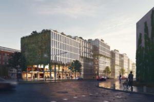 Holzgebäude von ADEPT in Hamburg-Wandsbek