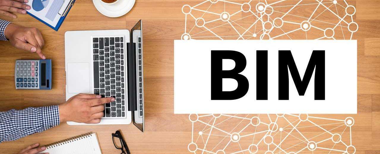 Laptop und Schriftzug BIM
