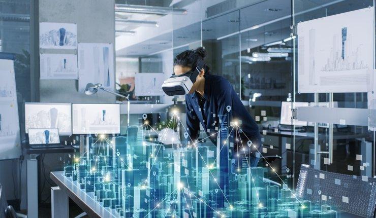 Einsatz von Augmented Reality Headset bei der Bauplanung