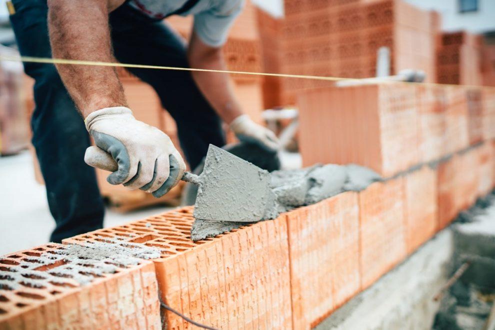 Mauerwerk auf Baustelle