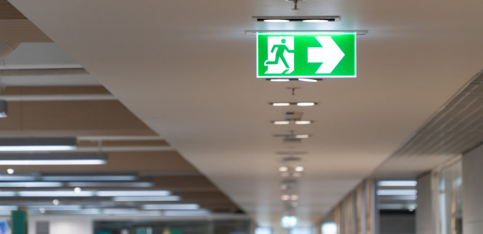 Kennzeichnung für Rettungswege