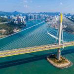 Ting Kau Bridge in Hongkong
