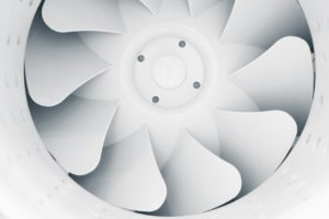 Ventilator in einer Lüftungsanlange