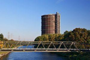 Gasometer Oberhausen mit neuem Korrosionsschutz