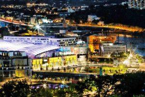 Die Ausstellung IntenCity im Aedes in Berlin zeigt u.a. Einkaufs- und Freizeitzentrum Confluence in Lyon. Bild: Jean-Paul Viguier et Associés / Takuji Shimmura