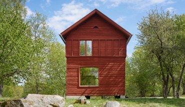 Ausstellung Woodland Sweden im Aedes Berlin. Zeitgenössischer Holzbau in Schweden. Haerbret Summerhouse. Bild: Åke E:son Lindman