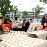Eine Installation zum Kräuterpflücken, Verweilen und ins Gespräch kommen hat beim Architekturwettbewerb »72 Hour Urban Action« den Publikumspreis erhalten. Bild: Mor Arkadir