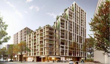 Mit seinem Entwurf für ein Wohnhochhaus konnte das Wiener Architekturbüro AllesWirdGut unlängst einen Wettbewerb im Wiener Stadtentwicklungsgebiet am Nordbahnhof für sich entscheiden. Bild: Simonicek / AllesWirdGut