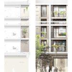 Wohnhochhaus Nordbahnhof von AllesWirdGut | Fassadenschnitt und -ansicht | Abbildungen: AllesWirdGut