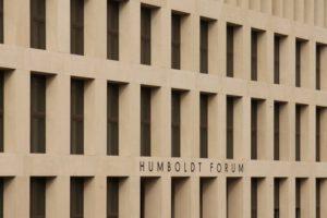 Fertigteilfassade aus Architekturbeton. Bild: Stiftung Humboldt Forum im Berliner Schloss, Markus Brunner, IZB