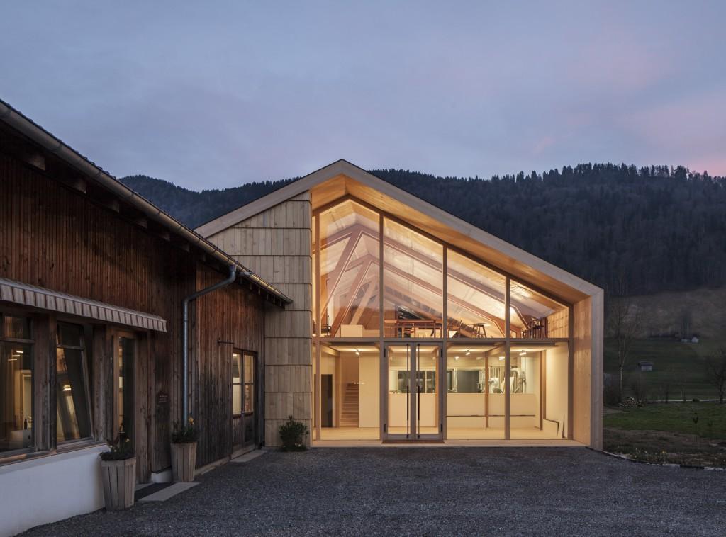 Vorarlberger holzbaupreis f r andreas mohr lichtes - Skelettbau architektur ...