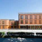 Der von Baumschlager Hutter Partners entworfene Neubau des TÜWI für die Universität für Bodenkultur erhielt den Staatspreis für Architektur und Nachhaltigkeit. Bild: Lukas Schaller