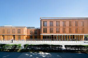 Baumschlager Hutter ist für den Neubau des TÜWI-Gebäudes in Wien mit dem österreichischen Staatspreis Architektur & Nachhaltigkeit ausgezeichnet worden. Bild: Lukas Schaller