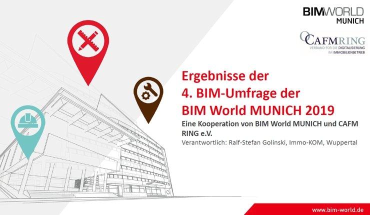 Zum 4. Mal hat Immo-KOM eine Umfrage über die Erfahrungen und Erwartungen zur Digitalisierung und zu BIM in der Bauwirtschaft durchgeführt.