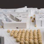 Architekturmodell der mit dem 3. Preis ausgezeichneten Büros Max Dudler Architekten AG, Berlin mit TOPOS Stadtplanung Landschaftsplanung Stadtforschung, Berlin für die Erweiterung des Bundesumweltministeriums in Berlin.