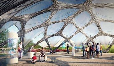 Pavillon für die Bundesgartenschau 2019. Leichtbau-Konstruktion aus Kohlefasern. Bild: ICD/ITKE Universität Stuttgart