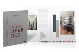 """Architekturmagazin Colore: Die künftigen Ausgaben erscheinen in einem neuen Gewand: So auch die aktuelle Publikation unter dem Titel """"Himbeerrot"""". Bild: Brillux"""