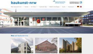 Seit Januar 2018 zeigt sich der Online-Architekturführer baukunst-nrw mit seinen mehr als 2 000 Bauwerken in einem ansprechenden und zeitgemäßen Design. Bild: baukunst-nrw