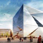 Das digitalisierte Bürogebäude Cube Berlin wird voraussichtlich Ende 2019 fertiggestellt. Bild: CA Immo