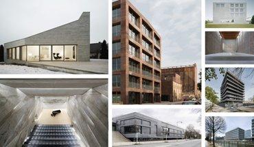 Auch in diesem Jahr sind wieder die besten Betonbauten ausgezeichnet worden. Bilder: Gonzales, Richters, Beierle, Aerni, Gonzales, Zscharnt, Gutzeit, Walti