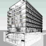 BIM-Modell von The Cradle von HPP Architekten
