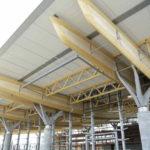 Holzkonstruktion am Flughafen Oslo
