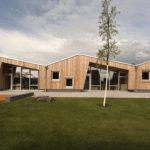 Holzfassade der Kita
