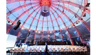 Veranstaltungsort für das 25. Brillux Architektenforum ist das Gasometer in Berlin. Bild: EUREF AG