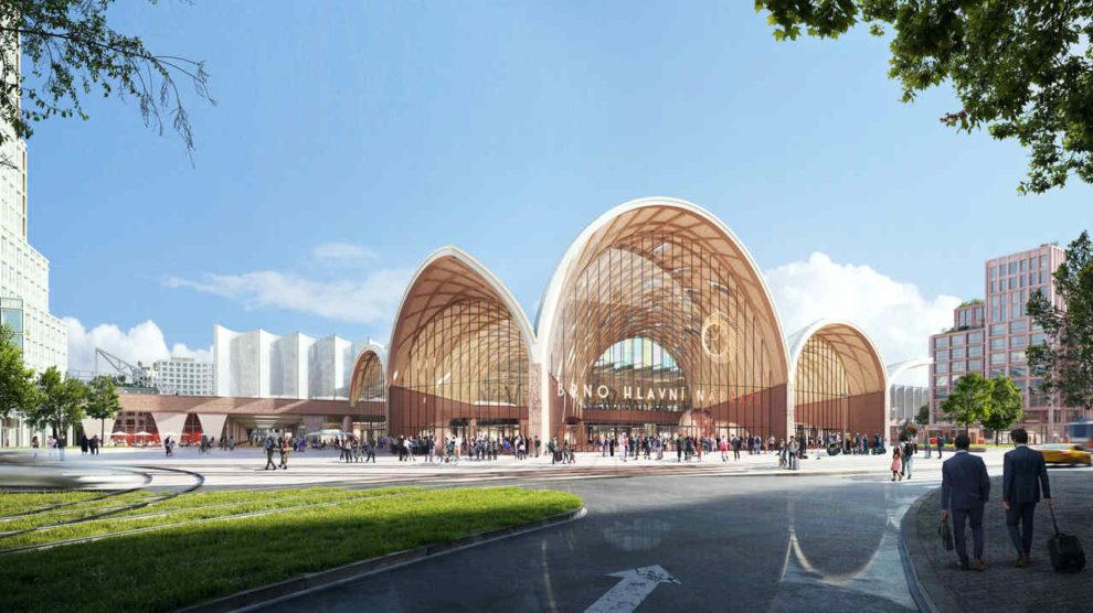 Bahnhofsgebäude in Brünn von Benthem Crouwel Architects