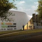 Carbon- bzw. Texilbeton-Gebäude Cube in Dresden