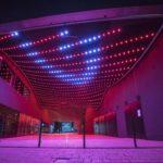3D-Lichtdecke und Taubenschutznetz