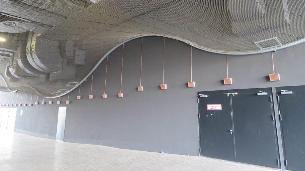 Stahl-Seilnetz für 3D-Lichtdecke
