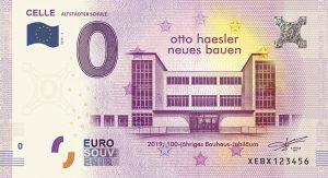 0-Euro-Schein zum Bauhaus-Jahr in Celle. Bild: Celle Tourismus