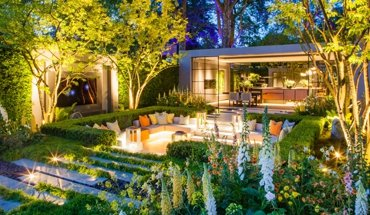 """Verkleidet mit Hi-Macs: Auf der Chelsea Flower Show 2018 gewann der LG Eco City Garden eine vergoldete Silbermedaille in der Kategorie """"Show Garden"""". Bild: Georgina Viney"""