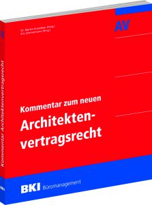 BKI-Kommentar zum neuen Architektenvertragsrecht. Bild: BKI