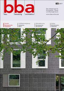bba bau beratung architektur Ausgabe 0708|17 Cover