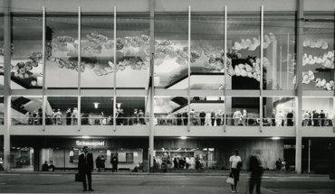 """Ausstellung """"Bühnen, Banken, Flugzeughallen – Frankfurter Projekte von Otto Apel/ABB Architekten"""" im DAM."""