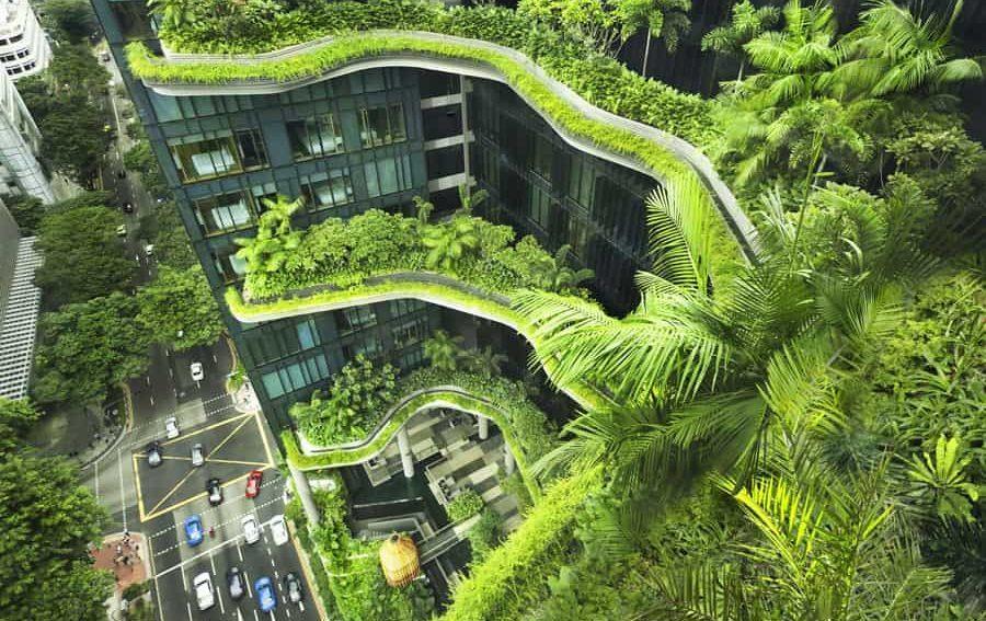 Key-visual zum DAM-Expertengespräch über grüne Architektur