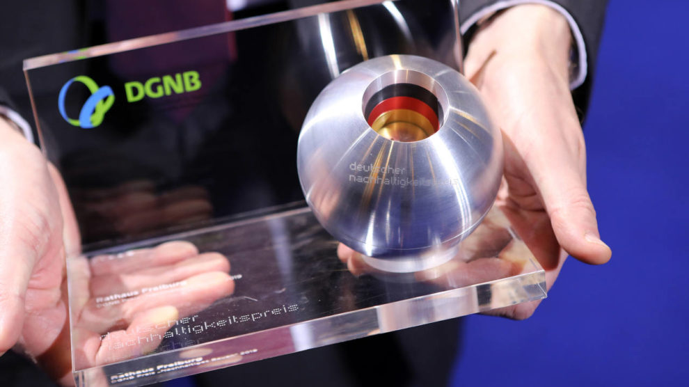 Trophäe für den Architekturwettbewerb Deutscher Nachhaltigkeitspreis Architektur