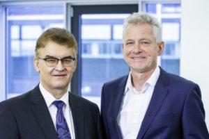 Baubranche: Dr. Hannes Zapf (rechts) und Dr. Ronald Rast (links) sind die führenden Vertreter der DGfM