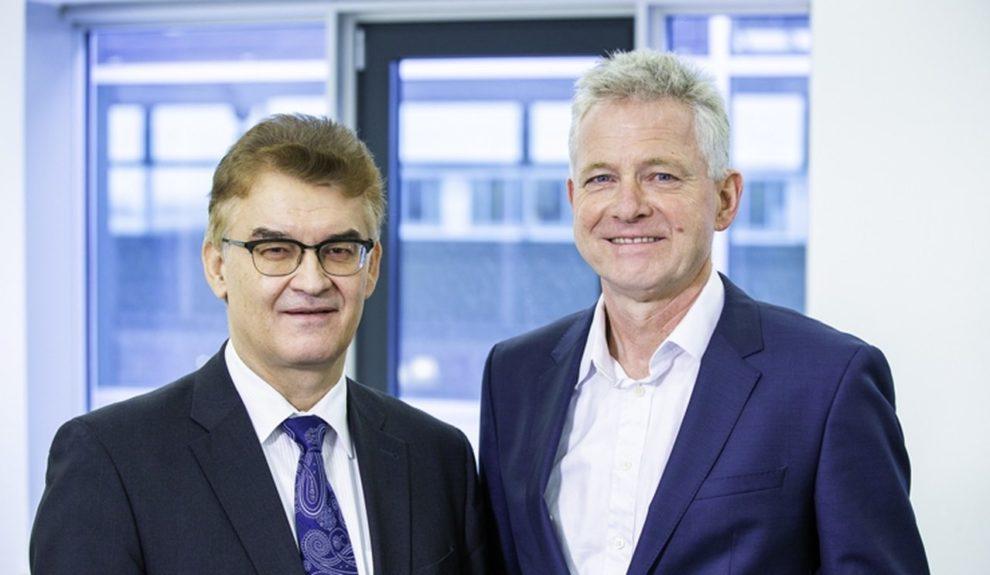 Baubranche: Dr. Hannes Zapf (rechts) und Dr. Ronald Rast (links) sind die führenden Vertreter der DGfM. Bild: DGfM