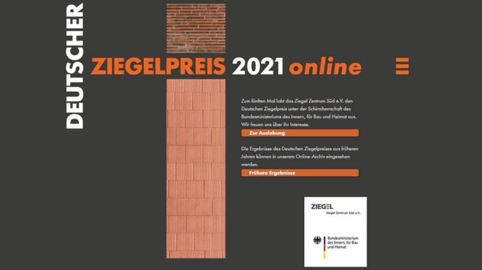 Auslobung Deutscher Ziegel-Preis. Bild: Ziegel Zentrum Süd e.V./ G. Kürzinger