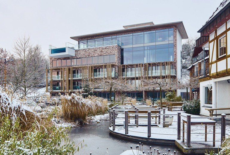 Blick auf ein Wellness-Hotel. Bild: Dallmer GmbH + Co. KG pg