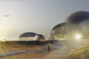 """Die Architekturausstellung """"Paradise For Everyone"""" in der Raumgalerie Stuttgart zeigt vom 11. Dezember bis 29.Februar Entwürfe von Regina Dahmen-Ingenhoven."""