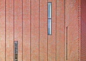Klinker-Fassade am Erweiterungsbau für das Museum Küppersmühle von Herzog & de Meuron in Duisburg