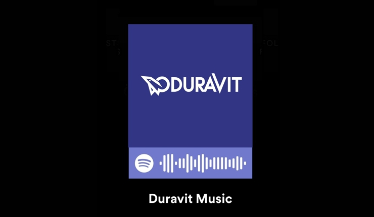 "Spotify-Account ""Duravit Music"" mit Playlists von Designern wie Philippe Starck, Christian Sieger, Kurt Merki Jr. und Christian Werner"