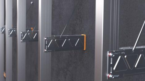 Edelstahl-Unterkonstruktion für vorgehängte hinterlüftete Fassaden. Bild: Ejot