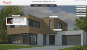 Fassaden-Konfigurator von Ladenburger für die Holzfassade. Bild: Ladenburger