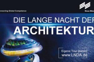 Lange Nacht der Architektur. BAU 2019. Bild: Messe München